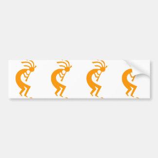 Kokopelli Orange Car Bumper Sticker