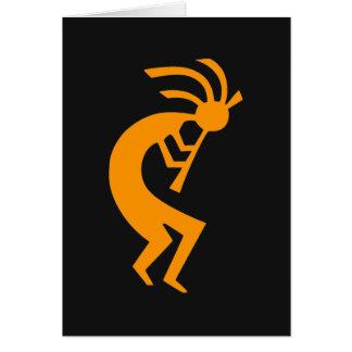 Kokopelli Orange Card