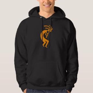 Kokopelli Orange Hooded Sweatshirt