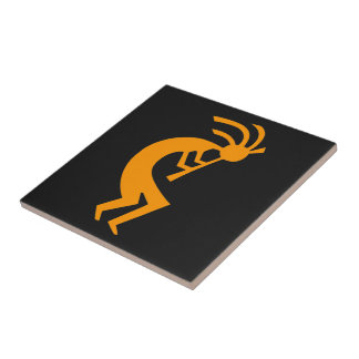 Kokopelli Orange Tile