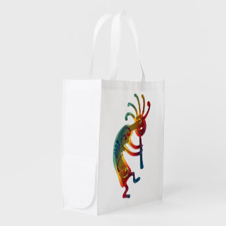 KOKOPELLI ornaments + your ideas Grocery Bag
