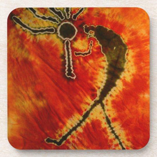 Kokopelli Phat Dyes Tie Dyes Coaster