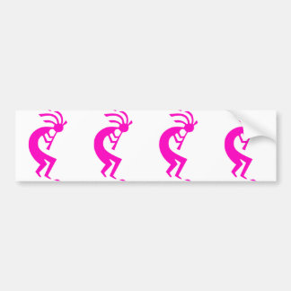 Kokopelli Pink Car Bumper Sticker