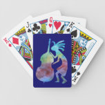 Kokopelli Plays Bass Bicycle Poker Cards