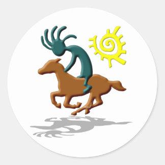Kokopelli Pony Classic Round Sticker