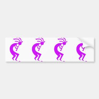 Kokopelli Purple Bumper Sticker