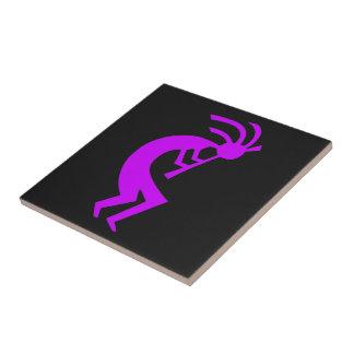 Kokopelli Purple Ceramic Tile