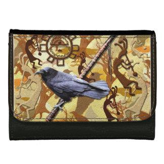 Kokopelli Raven and Flute Music-lovers Wildlife Wallet