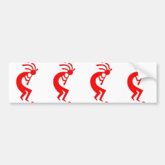 Kokopelli Red Bumper Sticker