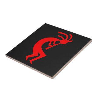 Kokopelli Red Ceramic Tile