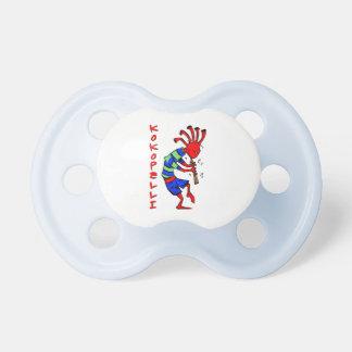 Kokopelli red man baby pacifier