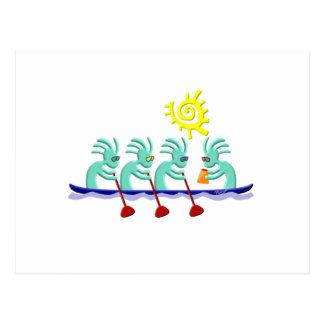 Kokopelli Rowing Postcard