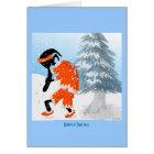 Kokopelli Santa Claus Card