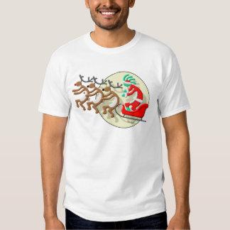 Kokopelli Santa Clause T Shirt