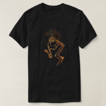 Kokopelli Saxaphone Player Petroglyph T-Shirt