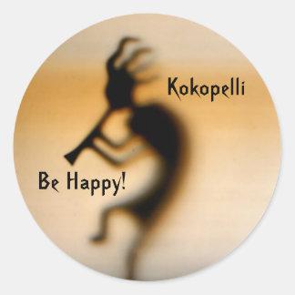 Kokopelli sea pegatina inspirado feliz