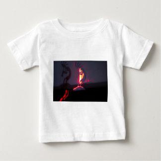 Kokopelli Shadows and Fire Baby T-Shirt