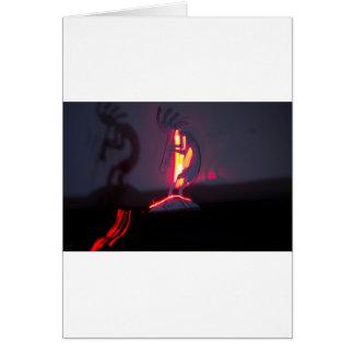 Kokopelli Shadows and Fire Card