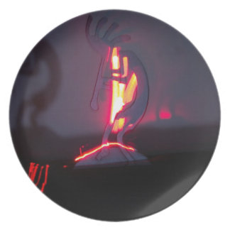 Kokopelli Shadows and Fire Plate