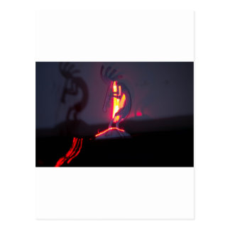 Kokopelli Shadows and Fire Postcard