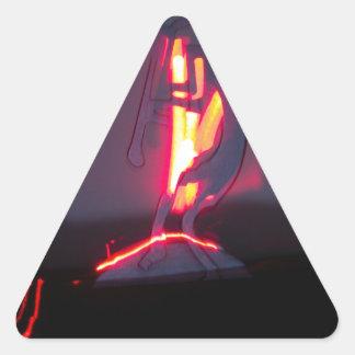Kokopelli Shadows and Fire Triangle Sticker