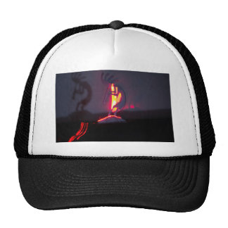 Kokopelli Shadows and Fire Trucker Hat