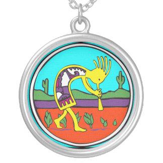 Kokopelli  Silver Neckace Personalized Necklace
