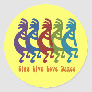 Kokopelli - Sing Live Love Dance Sticker