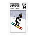 Kokopelli Skiing2 Postage Stamps