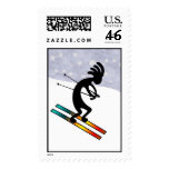 Kokopelli Skiing Stamp