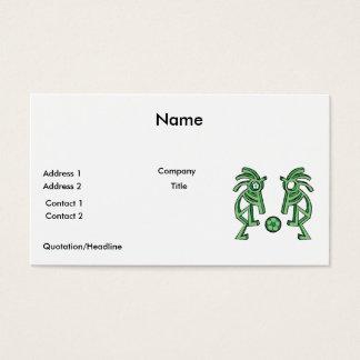 kokopelli soccer design business card