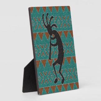 Kokopelli Southwestern Turquoise Design Plaque