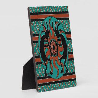 Kokopelli Southwestern Turquoise Plaque