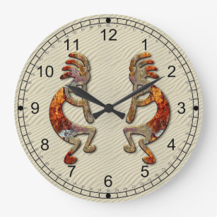 Kokopelli Southwestern Wall Clock Design