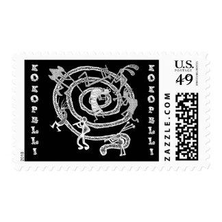 Kokopelli & Spiral - Postage #3