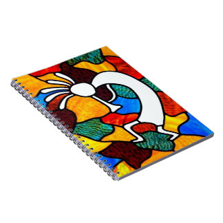 Kokopelli Stained Glass Notebook