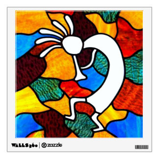 Kokopelli Stained Glass Room Decal