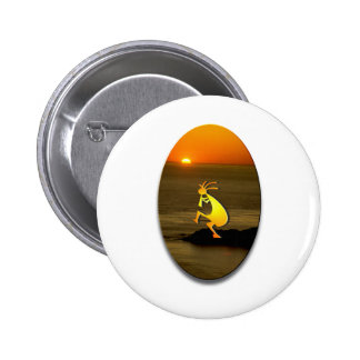Kokopelli Sunset #2 Button