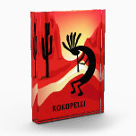 """Kokopelli Sunset Acrylic Award<br><div class=""""desc"""">The Kokopelli design is a graphic illustration by artist/designer Charmaine Paulson.  The illustration was made as a vector,  and then enhanced in photo software.  Enjoy!</div>"""