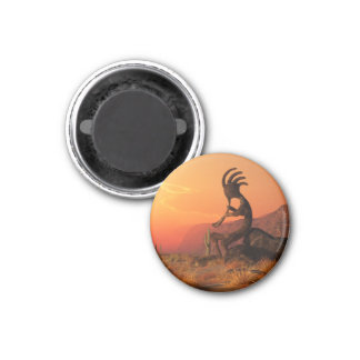 Kokopelli Sunset Magnet