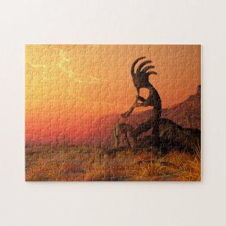 Kokopelli Sunset Jigsaw Puzzle