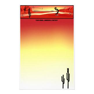 Kokopelli Sunset Stationery Stationery Paper