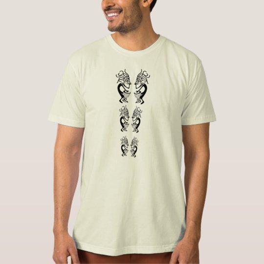 Kokopelli Totem w/Kakilambe Drum Logo Back T-Shirt