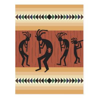 Kokopelli Tribal Design Postcard