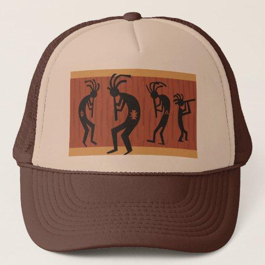Kokopelli Tribal Design Trucker Hat