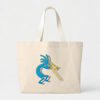 Kokopelli Trombone Tote Bags