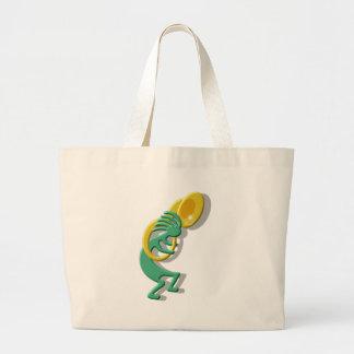 Kokopelli Tuba Canvas Bags