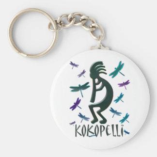 Kokopelli with Dragonflies Keychain