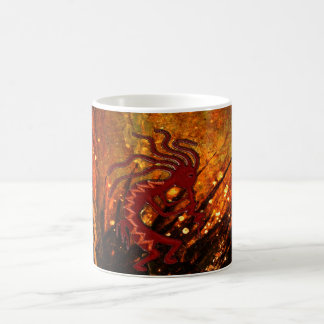 Kokopelli with FIre Flies Mug