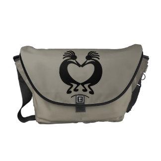 Kokopelli with Heart Custom Messenger Bag